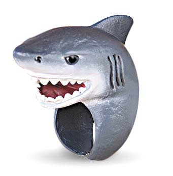 child's ocean creatures ring - shark