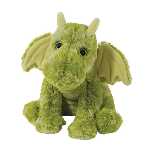 Soft plush lime green stuffed toy winged dragon