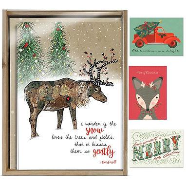 Art And Soul Bamboo Box Christmas Card Assortment