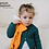 Baby with Orange rudimentary stuffed Bamboo Fox Blankie