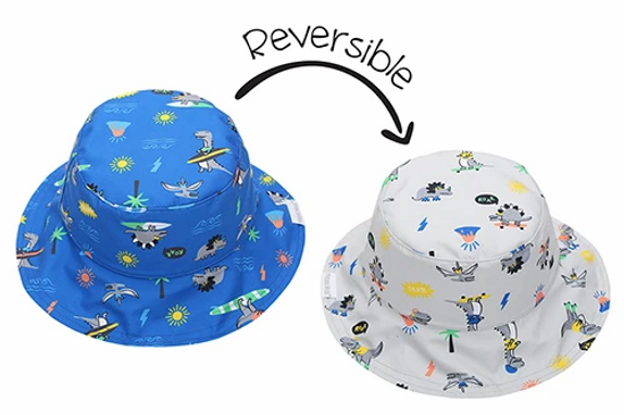 2 in 1 Reversible Patterned Sun Hat - Dino