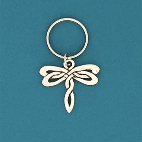 Celtic Dragonfly Keychain