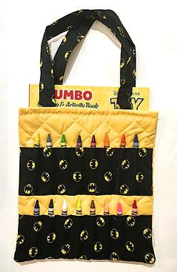 Bat Signal Crayon Activity Tote Bag
