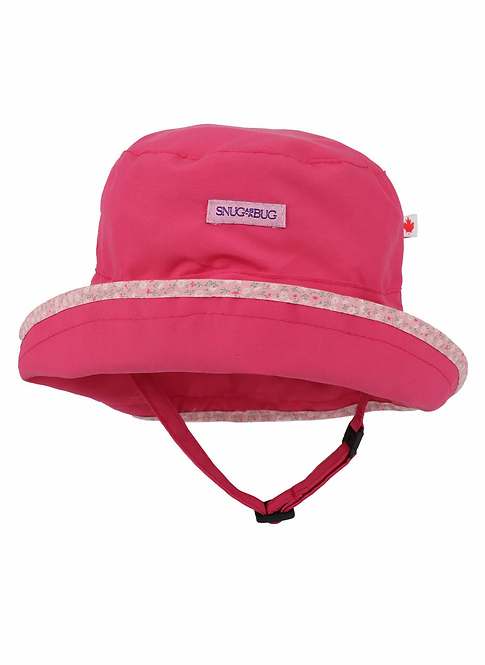 Snug as a Bug Laugh & Play UPF 50+ Sun Hat, pink front view