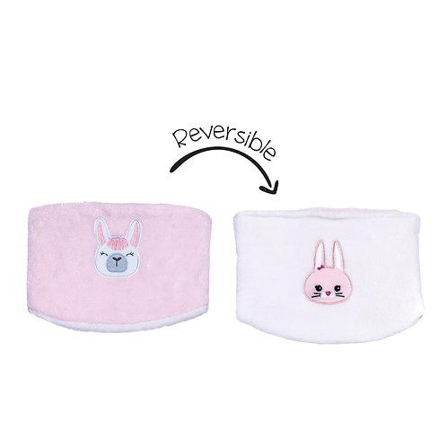 Flapjack Kids Reversible Neck Warmer - Bunny / Llama