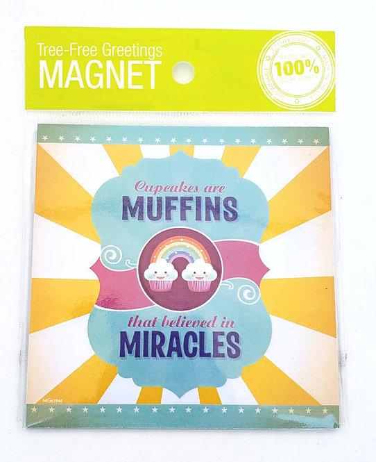 Tree-Free Greetings cupcake miracles magnet