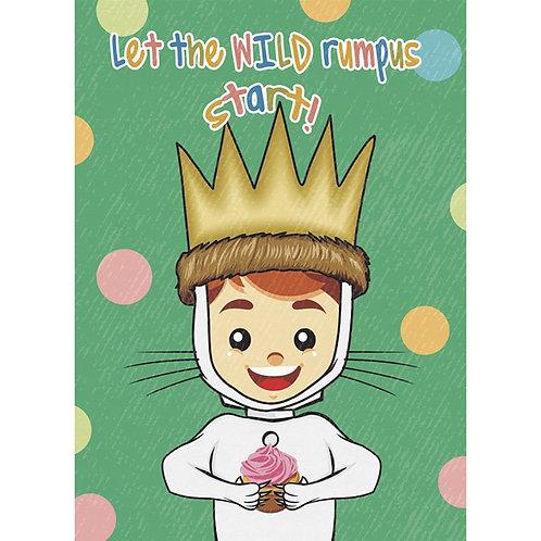 Cupcake Monster Kid Birthday Card