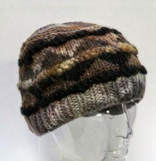 Tie-dye Fairisle Wool Hat