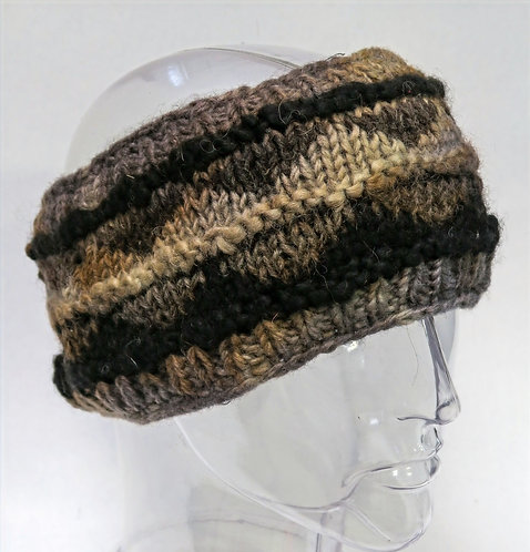 Tie-dye Fairisle Wool Headband