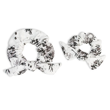 Black Floral Mommy & Me Scrunchies