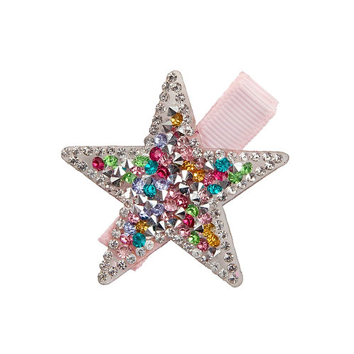 Sparkly star-shaped hair clip