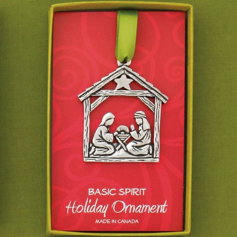 Basic Spirit pewter Nativity Ornament