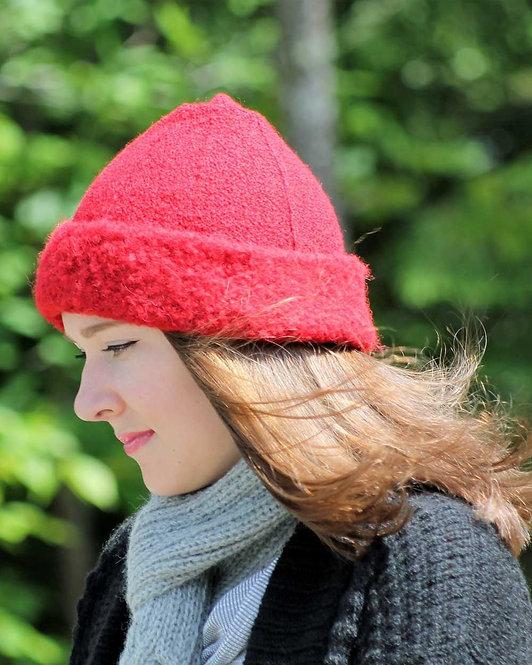 Peruvian Link Alpaca Hat - Lightweight Boucle red