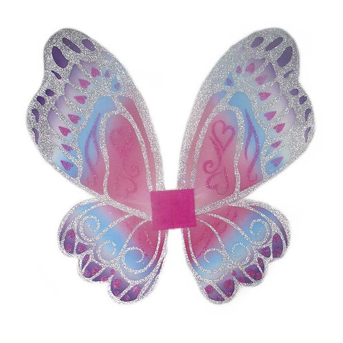 Large dress up wings set in silver, purple, pink and blue