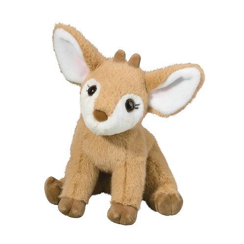 Tan & white baby fawn stuffed toy