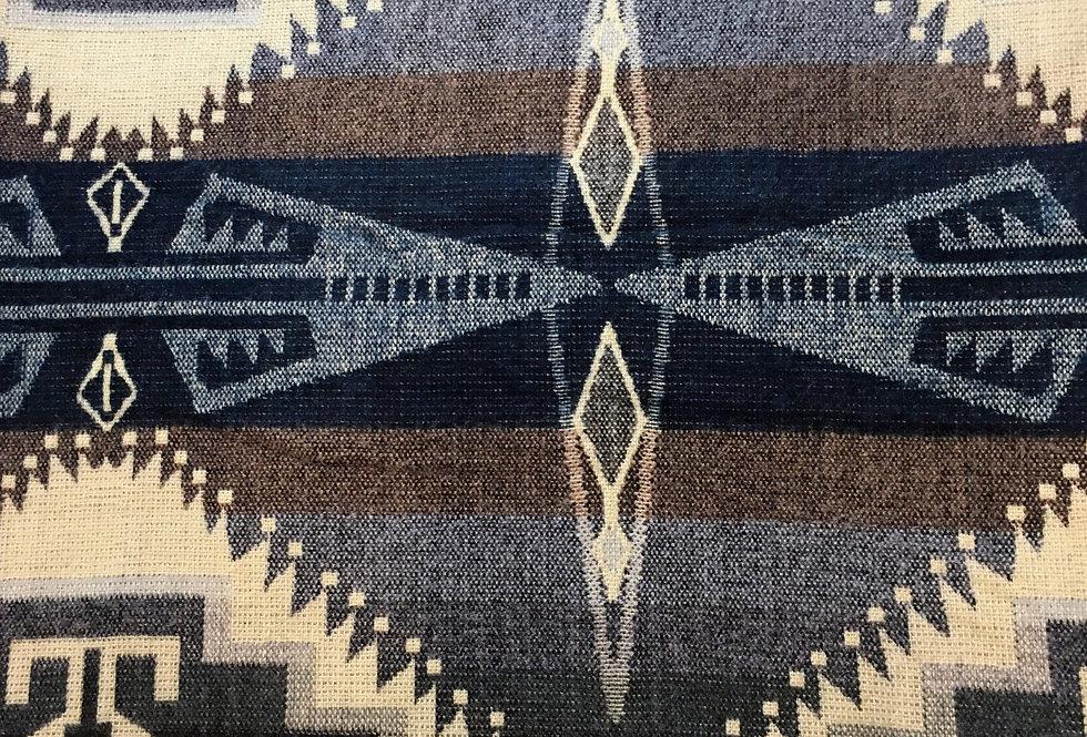 Navy - Brown - Gray Nazca Reversible Blanket / Throw