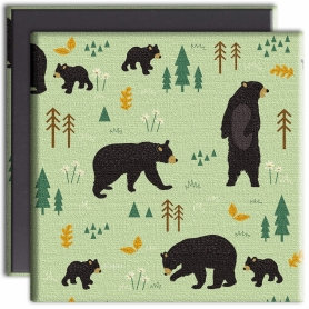 Tree-Free Greetings bear canvas magnet front & back
