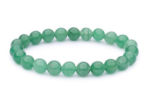 green aventurine stone bead stretch bracelet