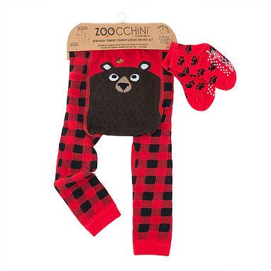 Bosley the Bear Crawler Legging & Sock Set