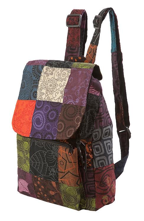 Ark Fair Trade Petite Patch Knapsack 2 adjustable straps multi coloured square patches