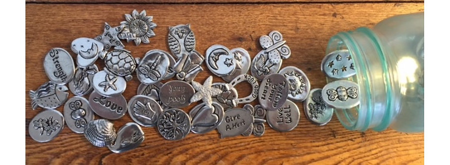 Basic Spirit Pewter Lucky Coin Pocket Charms collection