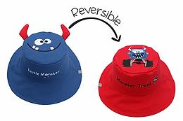 2 in 1 Monster / Truck Reversible Baby & Kid Sun Hat