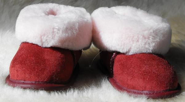 Kids' Sheepskin Slippers - Rose