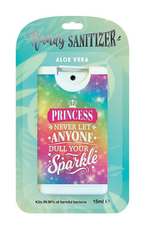 Aqua rectangular hand sanitizer packet - Princess