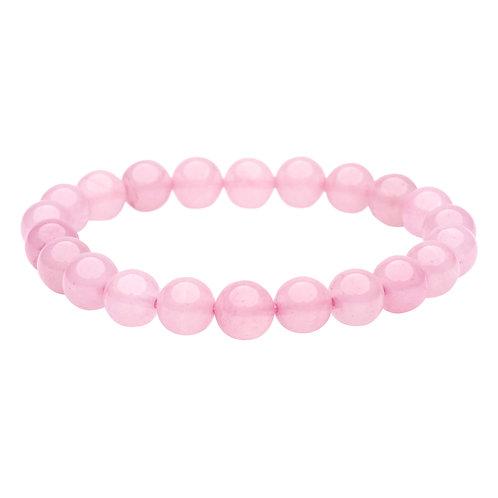 rose quartz Natural Stone Bead Stretch Bracelet