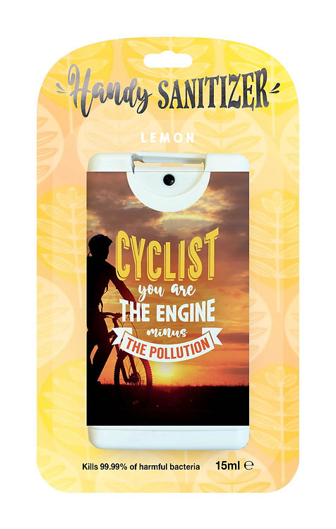 Yellow rectangular hand sanitizer packet - Cyclist