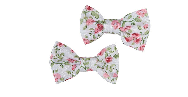 Pink Liberty Mini Bow Hair Clips set of 2