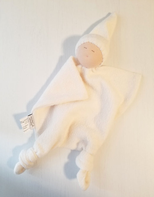 pale ivory Bamboo Baby Doll Blankie