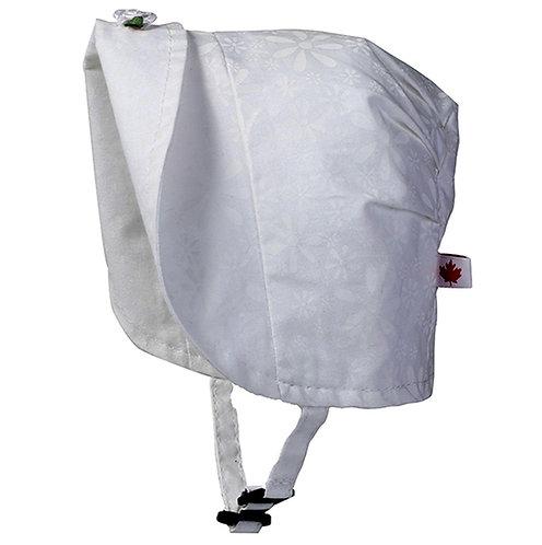 Snug as a Bug Daisy May Reversible Bonnet white brim folded