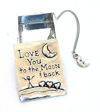 Pewter Wish Box Necklaces