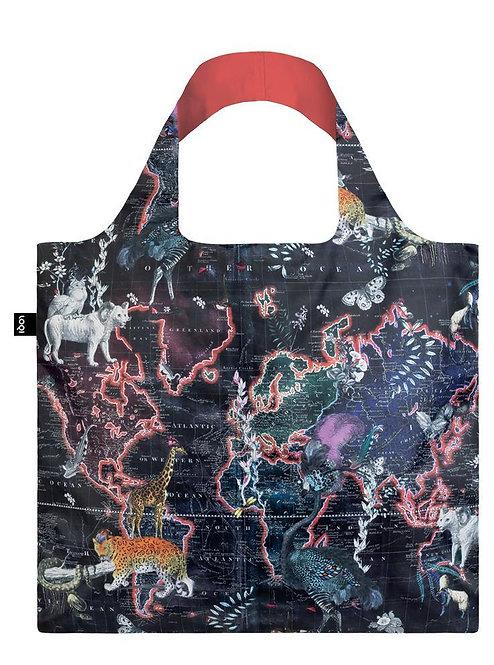 World Map Reusable Tote Bag