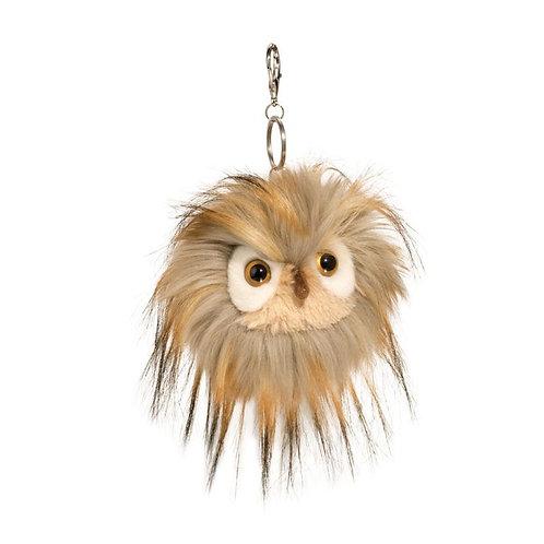 Douglas Toys Owl Fur Fuzzle Pom Clip