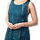 Woman modelling sleeveless round neck tunic-longer pointed side hem-teal with subtle black tie-dye print
