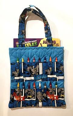 Batman Crayon Activity Tote Bag