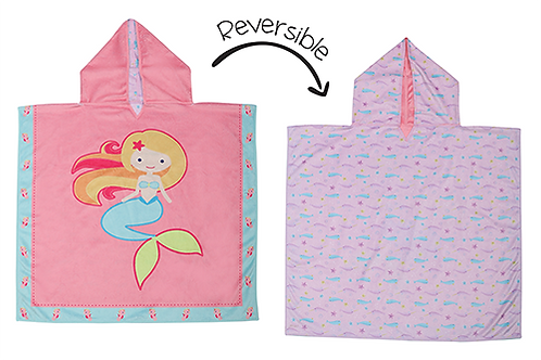 Flapjack Kids Reversible Kids Cover-Up - Mermaid / Narwhal both sides