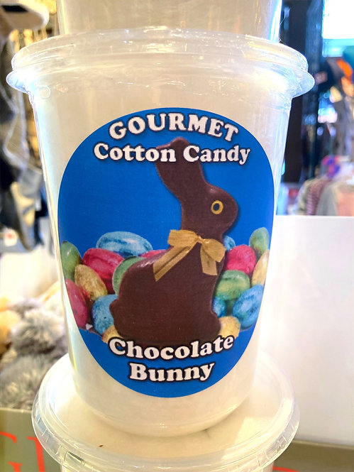 Chocolate Bunny cotton candy tub