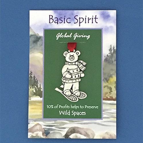 Basic Spirit Pewter Snowshoe Bear Global Giving Ornament