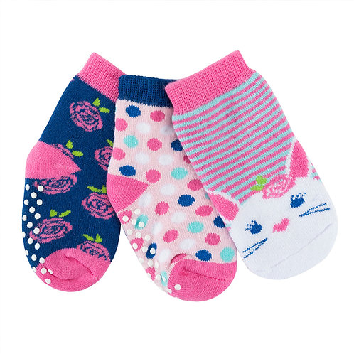 Set of 3 pairs of beatrice the bunny themed socks