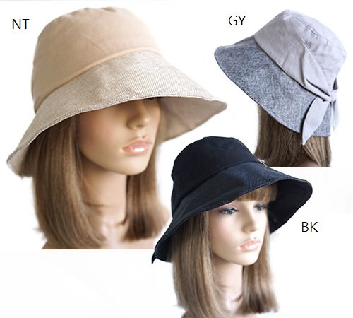3 Sleek and Shady Women's Sun Hats on mannequins in neutral, gray and black