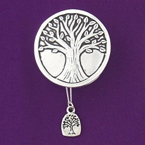 Basic Spirit Pewter Wishbox tree of life with tree necklace, closed