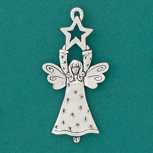 Basic Spirit Pewter Star & Angel Ornament