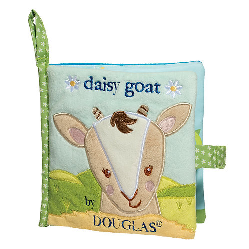 soft activity book for babies with goat's face on the cover titled Daisy Goat by Douglas