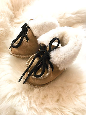Baby Sheepskin Slippers - Tan