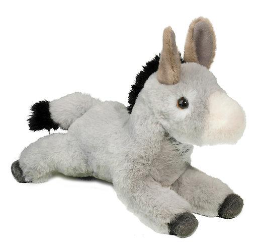 Douglas Toys Skeffy Donkey plush stuffed toy - light gray & white