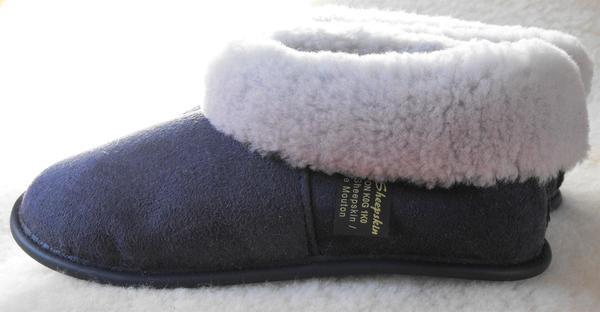 Unisex Sheepskin Slippers -Denim