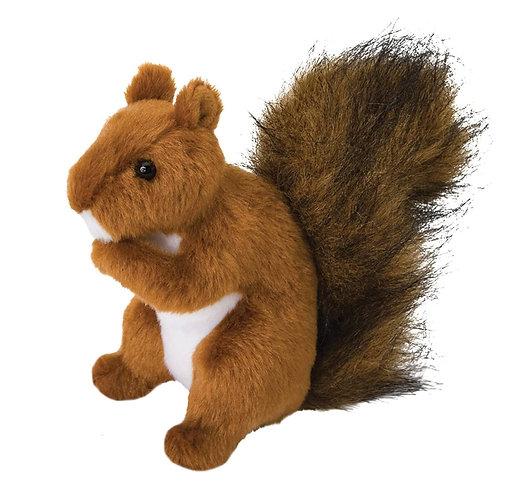 Douglas Toys Roadie Red Squirrel plush stuffed toy - red-brown & white